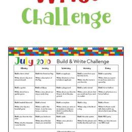 July Lego Build & Write Challenge. #freehomeschooldeals #fhdhomeschoolers #Legochallenge #Legowritingchallenge #buildandwritechallenge #Julywritingchallenge
