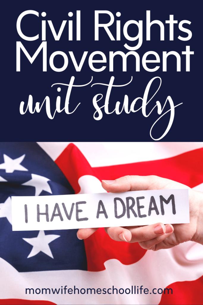 FREE Civil Right Movement Unit Study. #freehomeschooldeals #fhdhomeschoolers #civilrightmovement #civilrightsunitstudy #civilrightshistory