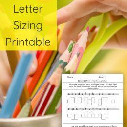 Summer Letter Sizing FREE Activity. #freehomeschooldeals #fhdhomeschoolers #summerlettersizing #lettersizingactivity #summerhandwritingprintable #handwritingactivity