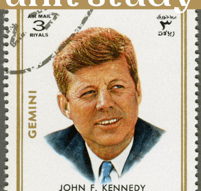 FREE John F. Kennedy Unit Study. #freehomeschooldeals #fhdhomeschoolers #Kennedyunitstudy #JohnFKennedyprintables #Kennedyresources
