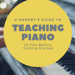 background of piano keys with overlay - A Parent's Guide to Teaching Piano