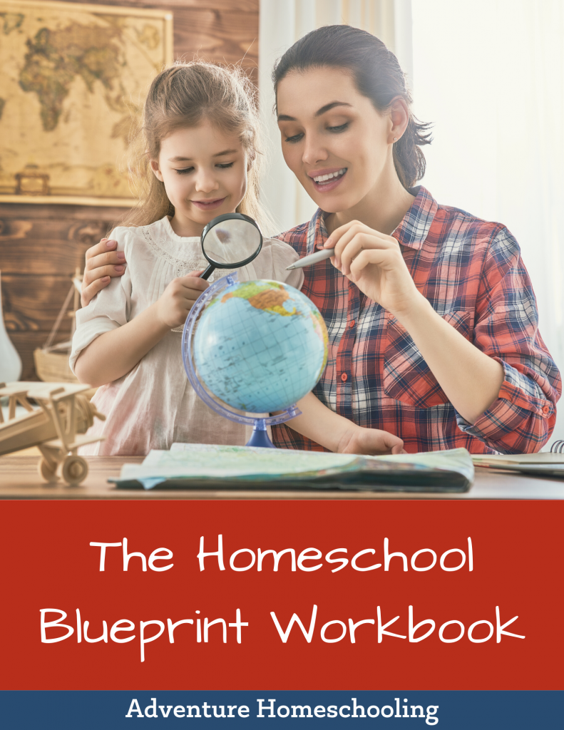 mother and daughter looking at world globe - The Homeschool Blueprint Workbook