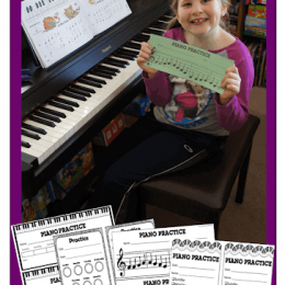 Free Printable Piano Practice Sheets. #freehomeschooldeals #fhdhomeschoolers #pianapracticesheets #pianopracticeworksheets #pianoworksheets #pianopracticeprintables