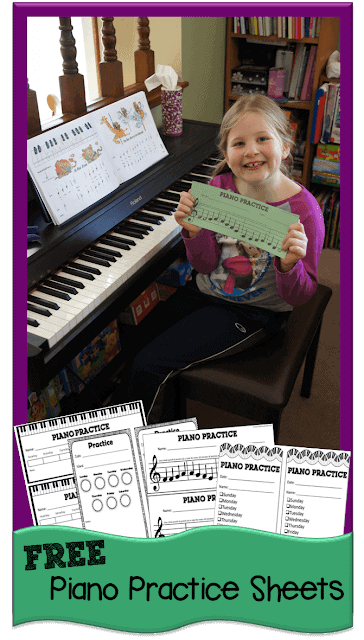 Free Printable Piano Practice Sheets. #freehomeschooldeals #fhdhomeschoolers #pianapracticesheets #pianopracticeworksheets #pianoworksheets #pianopracticeprintables