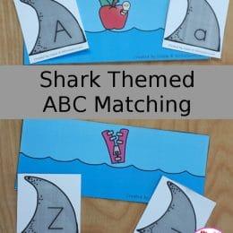 FREE Shark ABC Matching Activity. #freehomeschooldeals #fhdhomeschoolers #matchingactivity #sharkmatchingactivity #alphabetactivity #ABCmatchingactivity