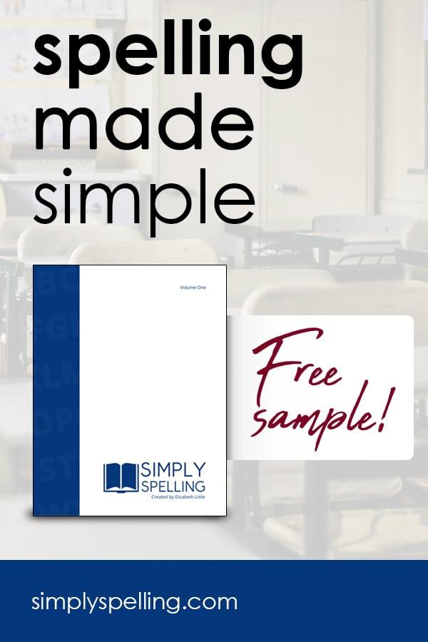 free sample spelling lesson