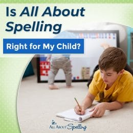 boy working on schoolwork overlay - Is All About Spelling right for my child?
