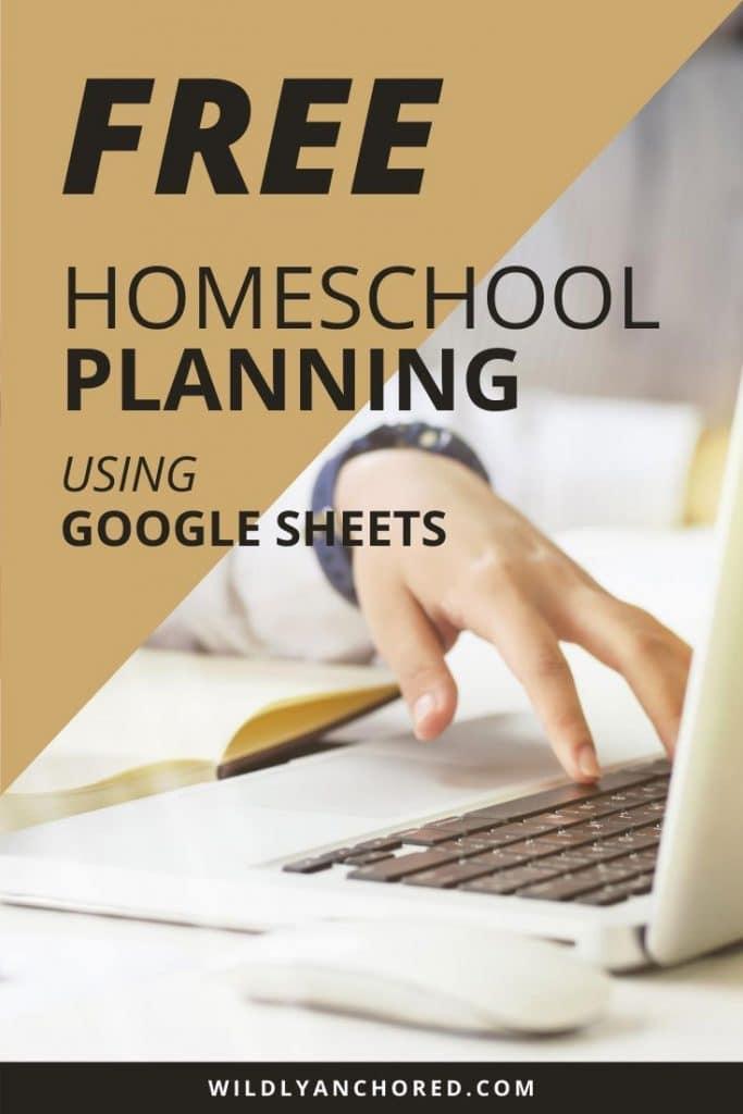 FREE Homeschool Planning Google Sheets. #freehomeschooldeals #fhdhomeschoolers #homeschoolplan #GoogleSheets #homeschoolingplan #homeschoolwithGoogleSheets