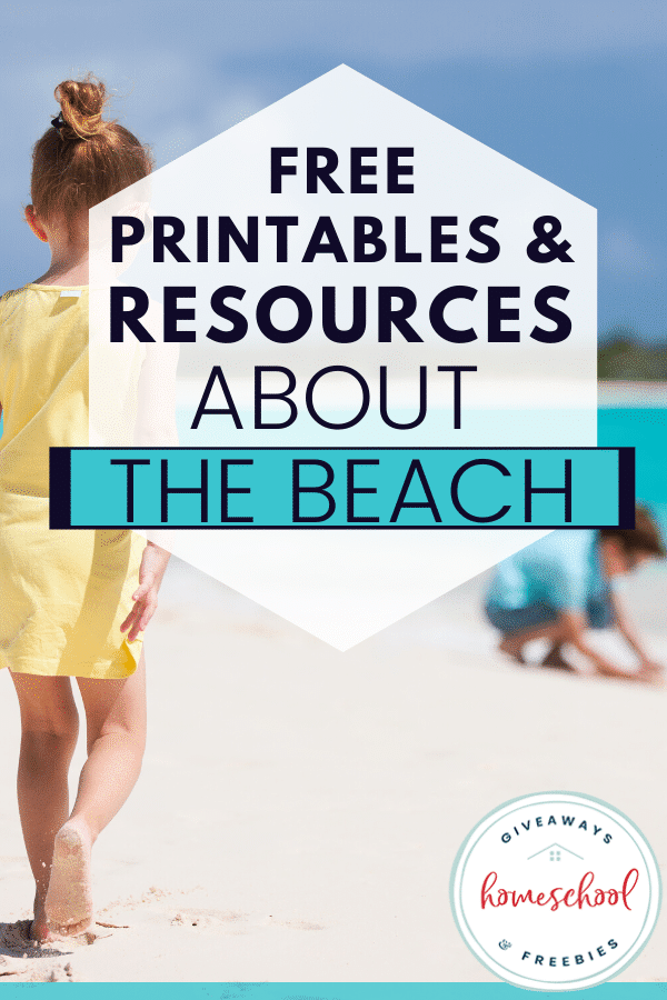FREE Printables All About the Beach. #freehomeschooldeals #fhdhomeschoolers #beachprintables #beachrsources