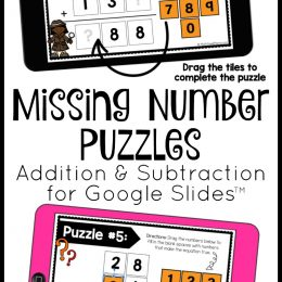 Addition and Subtraction FREE Google Slide Puzzles. #freehomeschooldeals #fhdhomeschoolers #GoogleSlidemath #GoogleSlidepuzzles #additionpuzzles #subtractionpuzzles