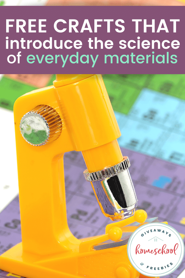 FREE Everyday Materials Science Crafts. #freehomeschooldeals #fhdhomeschoolers #everydaymaterialsscience #introducescience #sciencecrafts #craftsforscience