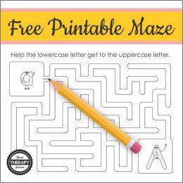 FREE Printable Letter A Maze. #freehomeschooldeals #fhdhomeschoolers #easymazes #letterAmaze #letterAprintablemaze