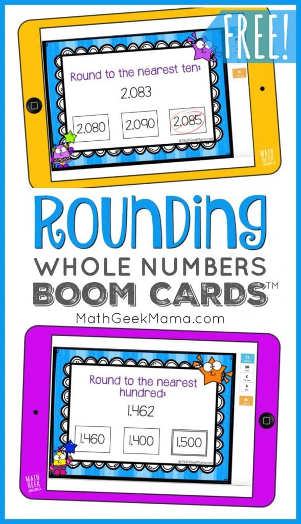 FREE Digital Rounding Practice for Kids. #freehomeschooldeals #fhdhomeschoolers #rounding practice #roundingnumbers #digitalmathpractice