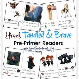FREE Brave and Tangled Sight Word Readers. #freehomeschooldeals #fhdhomeschoolers #Tangledreader #Bravereader #sightwordreader #sightwordresource