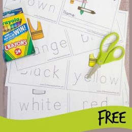 FREE Printable Learning Color Words Book. #freehomeschooldeals #fhdhomeschoolers #colorwordsbook #colornames #learncolors