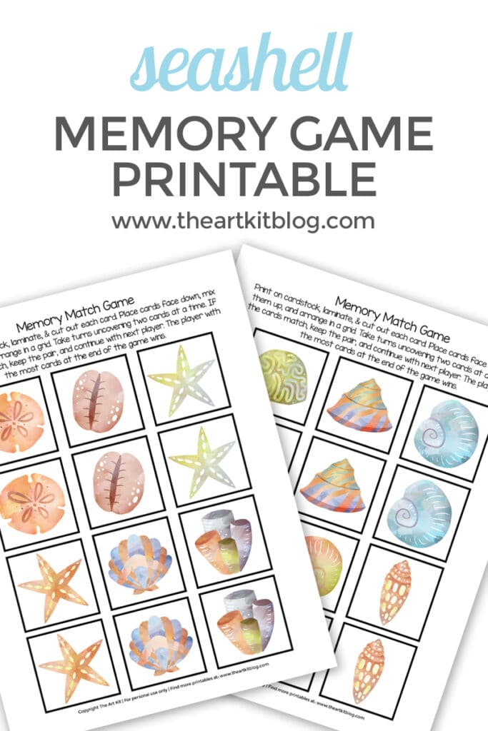 FREE Memory Match Shell Game. #freehomeschooldeals #fhdhomeschoolers #memorymatchgame #memorymatchshells #memorygame