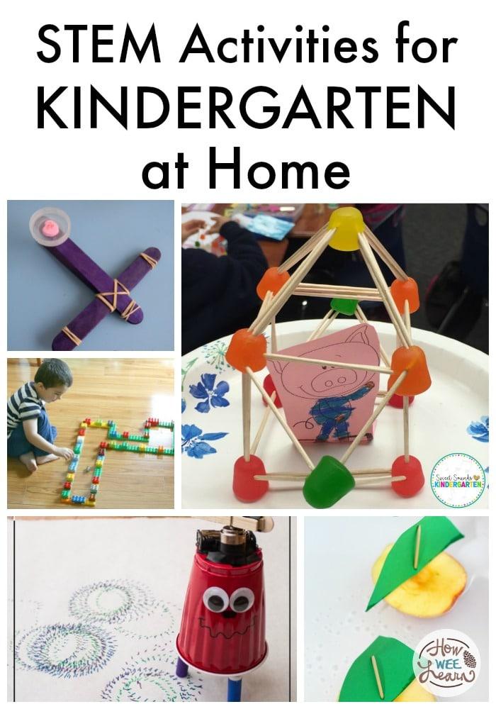 Home STEM Kindergarten Activities. #freehomeschooldeals #fhdhomeschoolers #athomeSTEM #STEMforkindergarten #kindergartenSTEM