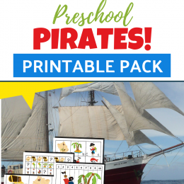 FREE Pirate Printable Pack for Preschool. #preschoolpirates #piratepack #piratepreschoolpack