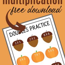 FREE Fall Multiplication Worksheet. #freehomeschooldeals #fhdhomeschoolers #falldoublesworksheet #fallmultiplcationworksheets #multiplicaitonworksheets #fallmathworksheets