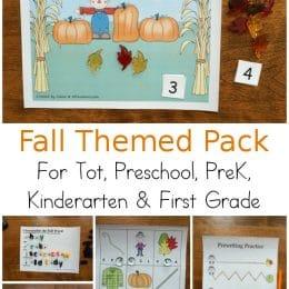 FREE Fall Printable Activity Pack. #freehomeschooldeals #fhdhomeschoolers #fallprintablepack #skillbuildingforfall #fallprintables #preschoolprintables #kindergartenprintables