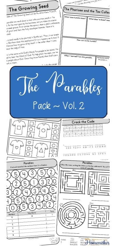 FREE Parables of Jesus Printable Packs. #freehomeschooldeals #fhdhomeschoolers #parablesofJesus #Jesusparableprintables #parablesprintablepack