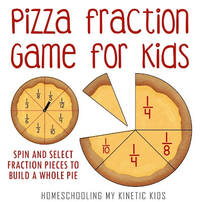 FREE Printable Pizza Fractions. #freehomeschooldeals #healthcareworkercards #pizzafractions #fractionsprintable #fractionswithpizza #fractionsgame