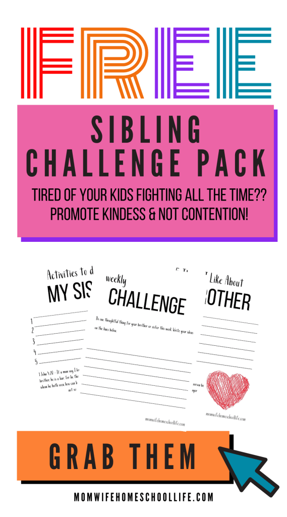 FREE Stop Sibling Rivalry Challenge. #freehomeschooldeals #fhdhomeschoolers #stopsiblingrivalry #siblingrivalry