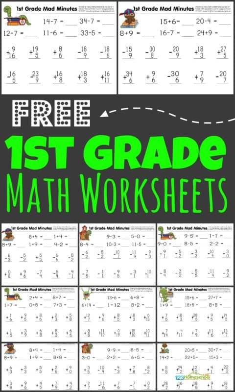 FREE Math First Grade Worksheets Free Homeschool Deals ©