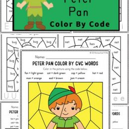 Fun Peter Pan CVC Worksheets. #freehomeschooldeals #fhdhomeschoolers #peterpanworksheets #cvcwords #peterpancvcwords