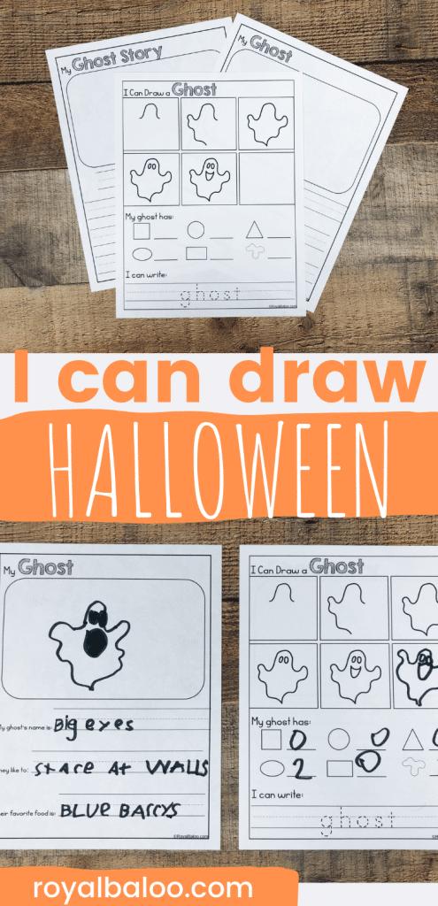 FREE Halloween Draw and Write Activity. #fhdhomeschoolers #freehomeschooldeals #drawandwriteactivity #freecreativewritingprintable #freehalloweenwritingprintable
