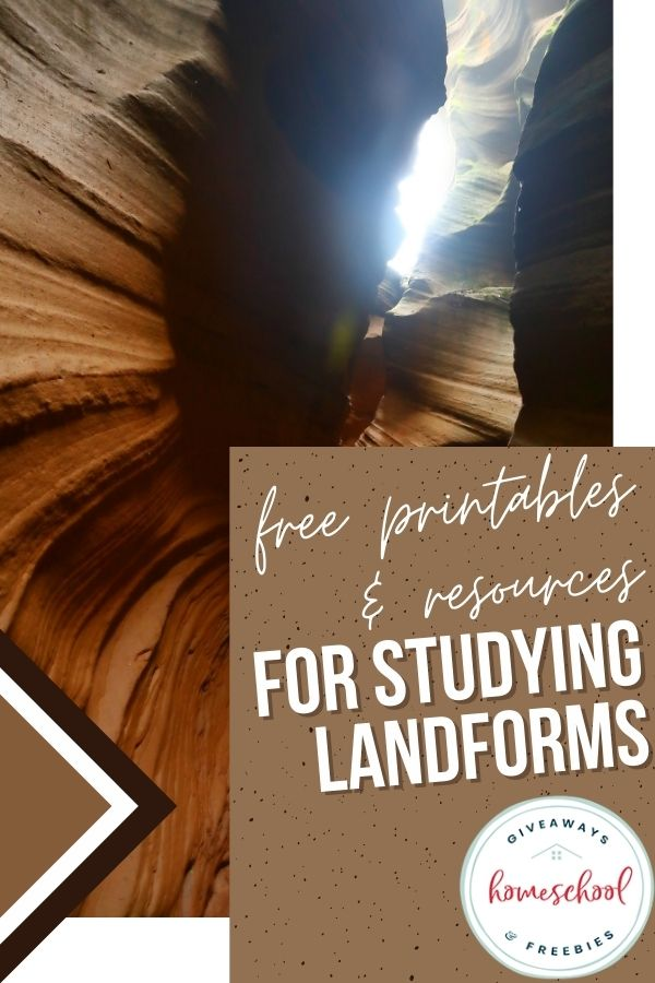 FREE Landform Resources and Printables. #freelandformresources #freelandformstudy #homeschoollandformstudy #fhdhomeschoolers #freehomeschooldeals