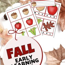 Free Fall Early Learning Pack. #freehomeschooldeals #fhdhomeschoolers #fallearlylearning #earlylearningpack #falllearningpack