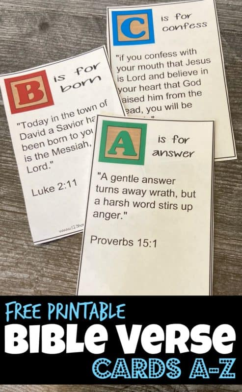 FREE Family Scripture Memory Verses. #familyscripturememory #memoryversesforkids #printablememoryversecards #freehomeschooldeals #fhdhomeschoolers