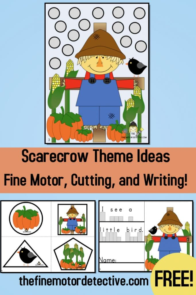 Scarecrow Fine Motor, Cutting, and Writing Activities. #fhdhomeschoolers #freehomeschooldeals #scarecrowfinemotoractivities #scarecrowactivities #finemotoractivities