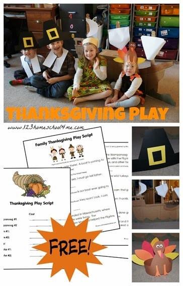 Fun Family Skit for Thanksgiving. #fhdhomeschoolers #freehomeschooldeals #firstthanksgiving #thanksgivingactivity #thanksgivinghistoryforkids