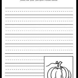 FREE Pumpkin Writing Prompt Printable. #fhdhomeschoolers #freehomeschooldeals #pumpkinwritingprompt #fallwritingprompt #freefallwritingprompt