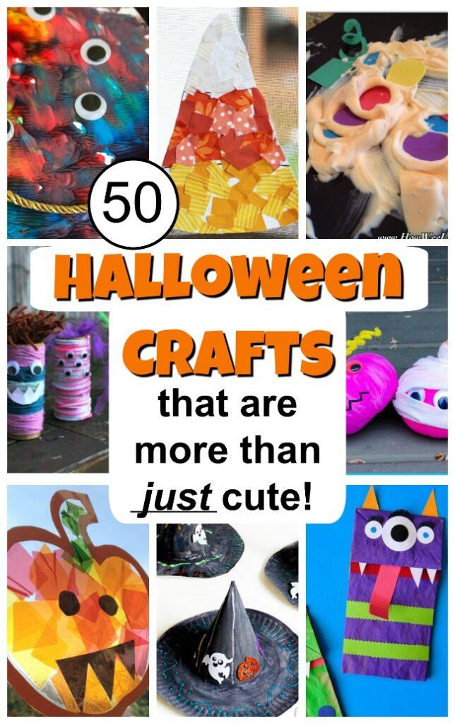 FREE Simple Kids Halloween Crafts. #halloweencraftsforkids #simplehalloweencrafts #easykidscrafts #freehomeschooldeals #fhdhomeschoolers
