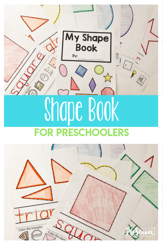 FREE Shape Book for Kids. #fhdhomeschoolers #freehomeschooldeals #preschoolshapepractice #freeshapesprintable #learningshapes