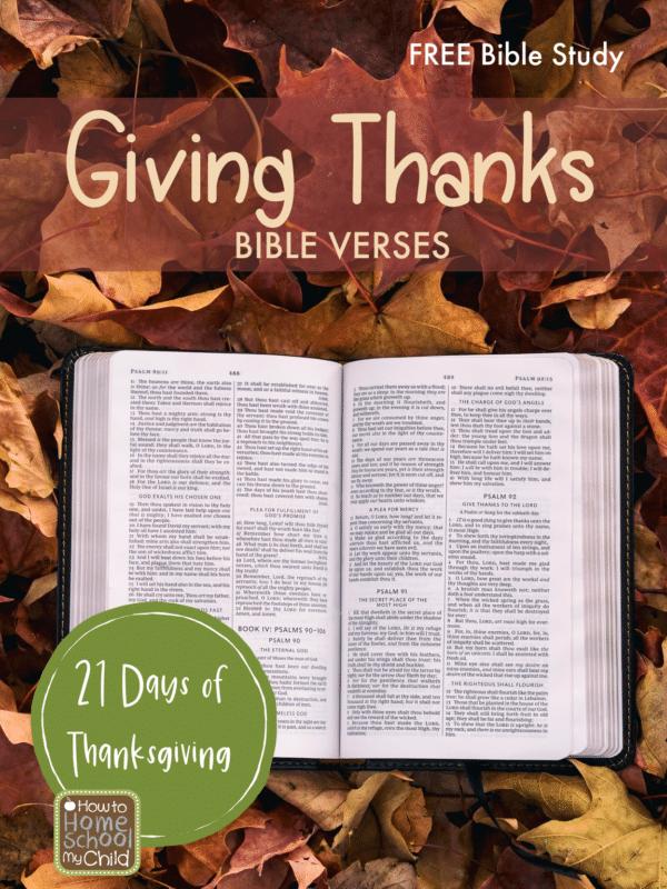 Free Thanksgiving Family Bible Study. #freebiblestudy #thankfulnessstudy #familybibleactivity #freehomeschooldeals #fhdhomeschoolers
