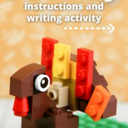 Lego Turkey Create and Write. #freewritingprompt #turkeyactivity #thanksgivingactivity #freehomeschooldeals #fhdhomeschoolers
