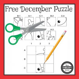 December Cut and Paste Puzzle