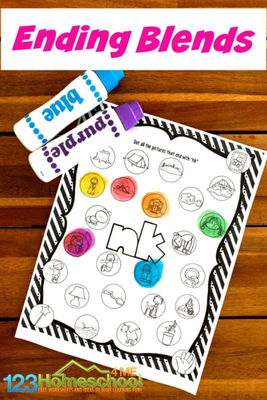 Consonant Ending Blends Worksheet Free Homeschool Deals ©