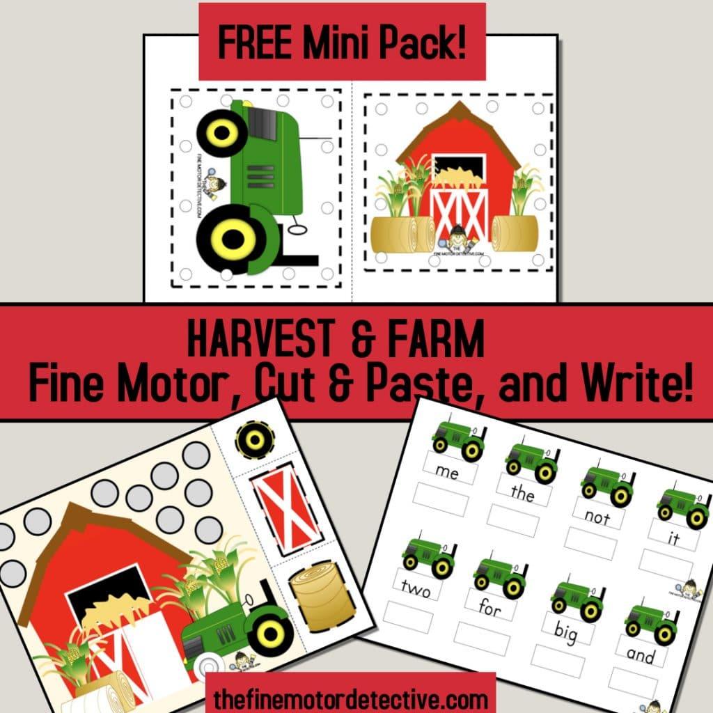 FREE Farm Mini Pack! #freehomeschooldeals #fhdhomeschoolers #farmminipack #farmactivities