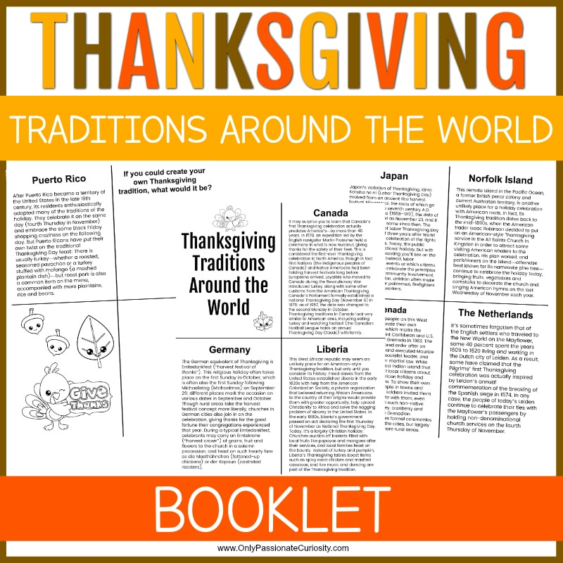 Around the World Thanksgiving Book. #learnaboutthanksgiving #thanksgivingaroundtheworld #thanksgivingprintable #freehomeschooldeals #fhdhomeschoolers