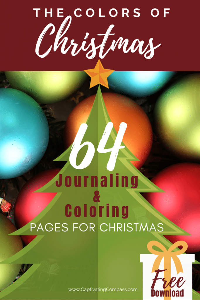 64 FREE Colors of Christmas Journaling Coloring Pages. #freehomeschooldeals #fhdhomeschoolers #Christmasjournaling #Christmascoloringpages