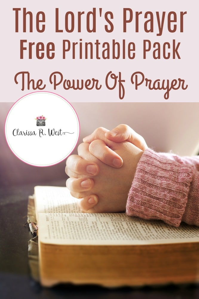 Free Family Lord's Prayer Cards. #lordsprayerprintables #freelordsprayercards #freeprayercards #freehomeschooldeals #fhdhomeschoolers