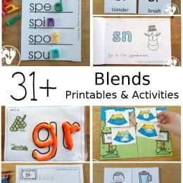 Word Blends Printables and Activities. #endblendworksheets #kindergartenprintables #beginningblendworksheets #freehomeschooldeals #fhdhomeschoolers