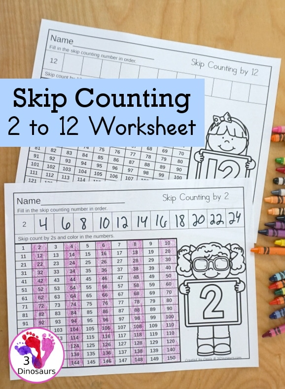 Free Skip Counting Worksheets. #freeskipcountingworksheets #skipcountingpractice #freehomeschooldeals #fhdhomeschoolers