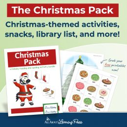 sample pages of the All About Learning Christmas Pack