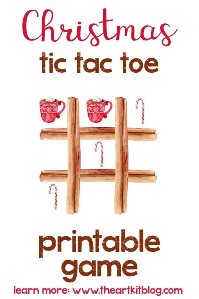Winter Tic Tac Toe Game. #freeprintablegames #christmasgamesforkids #freewintergames #freehomeschooldeals #fhdhomeschoolers
